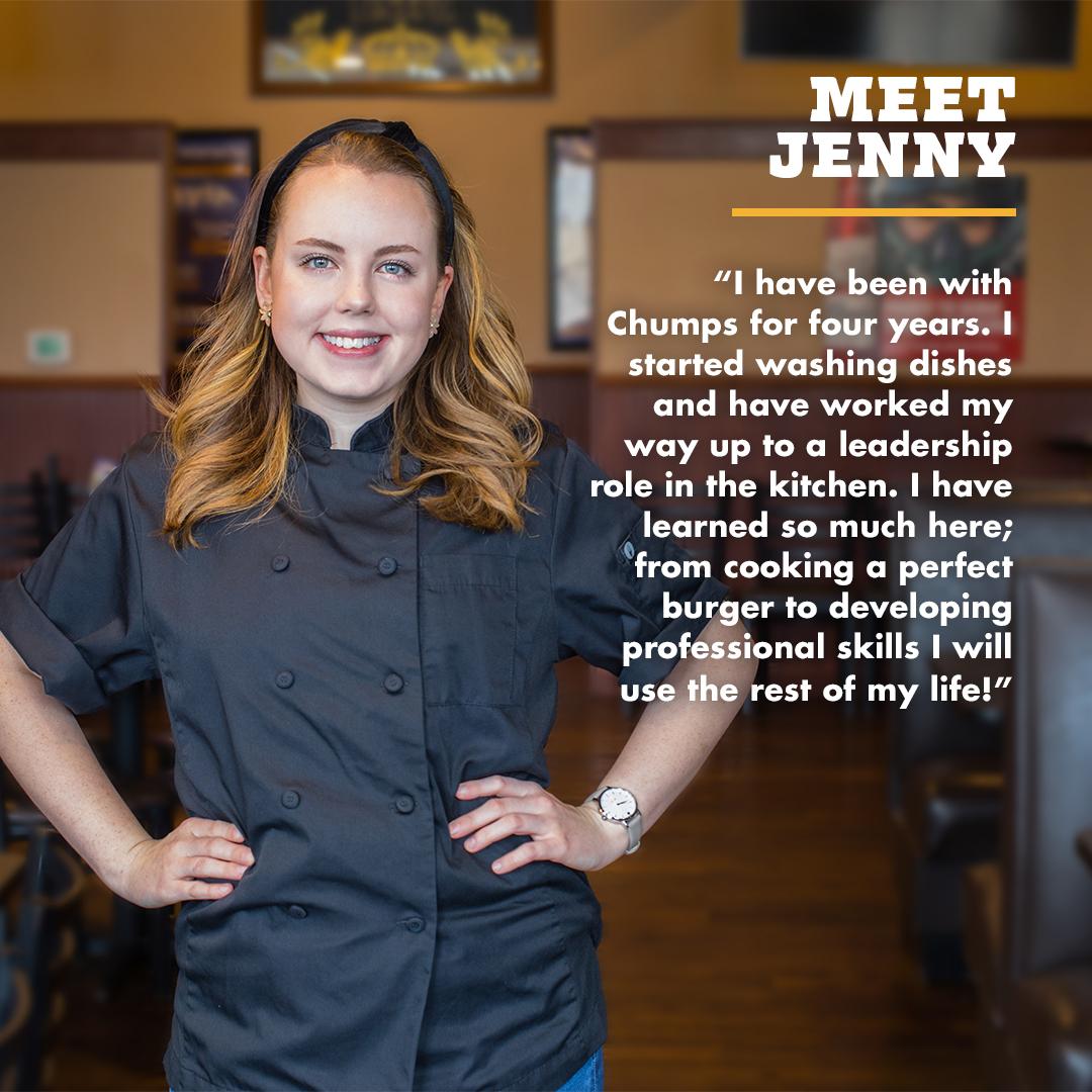TJ Chumps Staff Spotlight Jenny