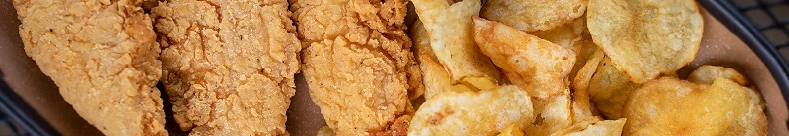 basket of chicken strips